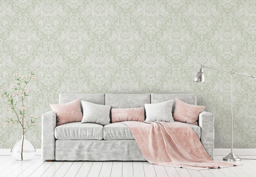 Holden Decor Harlen Sage Woodland 90162 Wallpaper